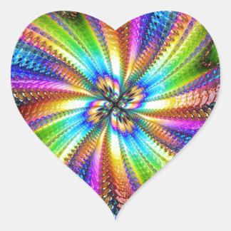 fluorescent image in star heart sticker