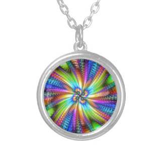 fluorescent image in star round pendant necklace