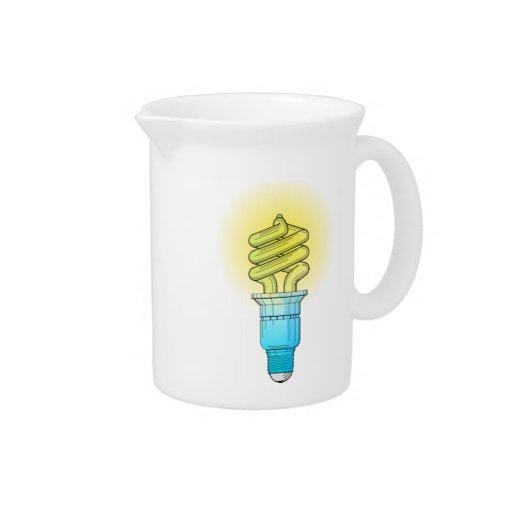 Fluorescent Light Bulb Drink Pitcher