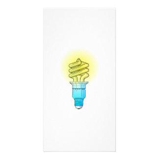 Fluorescent Light Bulb Customized Photo Card