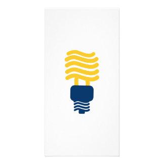 Fluorescent Light Bulb Picture Card