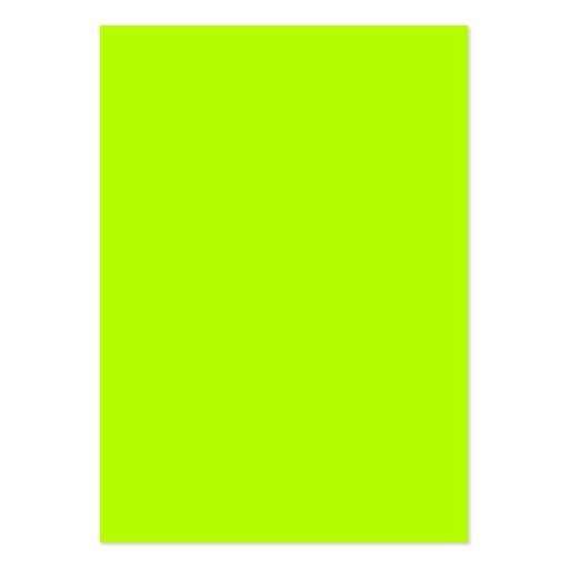 Fluorescent Lime Green Neon Yellow Personalized Business Card Templates