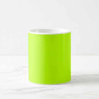Fluorescent Lime Green Neon Yellow Personalized Classic White Coffee Mug