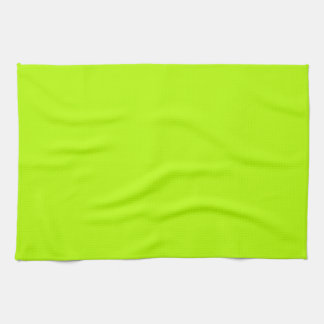 Fluorescent Lime Green Neon Yellow Personalized Kitchen Towels