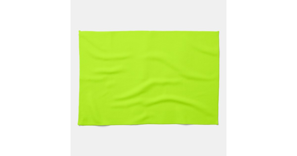Fluorescent Lime Green Neon Yellow Personalized Kitchen Towels Zazzle