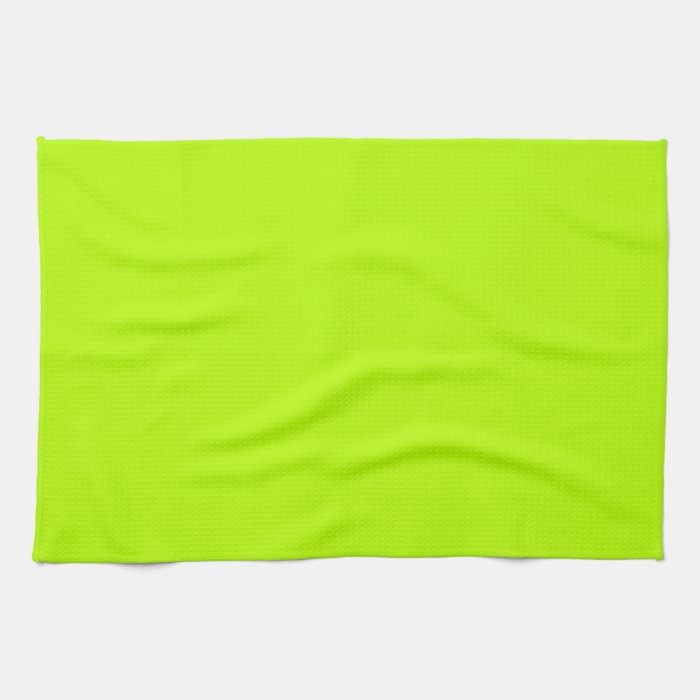 Fluorescent Lime Green Neon Yellow Personalized Kitchen