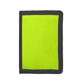 Fluorescent Lime Green Neon Yellow Personalized Trifold Wallet