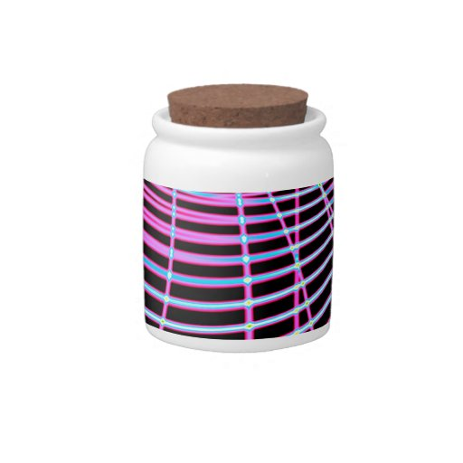 Fluorescent Neon Web Fractal Candy Jars