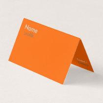 fluorescent orange business card