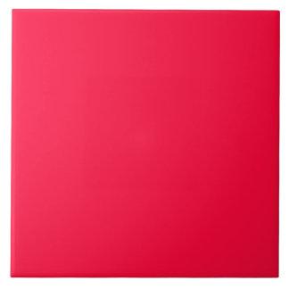 Fluorescent Orange Neon Red Personalized Large Square Tile