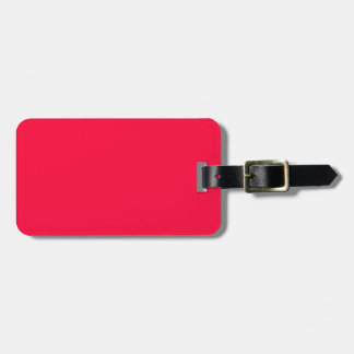 Fluorescent Orange Neon Red Personalized Travel Bag Tag