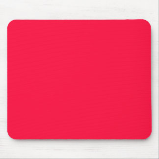 Fluorescent Orange Neon Red Personalized Mouse Pad