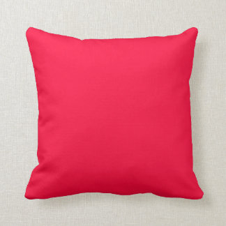 Fluorescent Orange Neon Red Personalized Throw Pillows