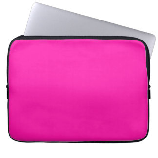 Fluorescent Orchid Hot Orchid Pink Personalized Computer Sleeve