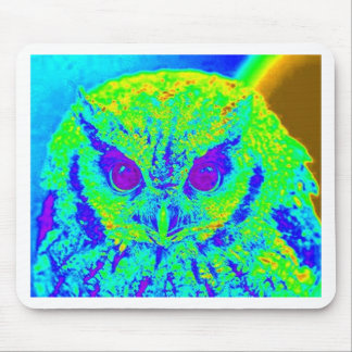 fluorescent owl mouse pad
