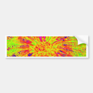 fluorescent palm bumper sticker