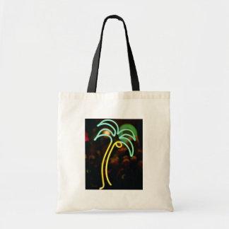 Fluorescent palm tree at Seafair, Dania, Florida, Budget Tote Bag