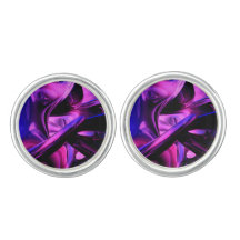 Fluorescent Passions Abstract Cufflinks