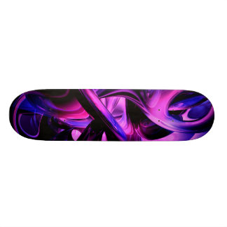 Fluorescent Passions Abstract Skateboard