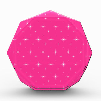 Fluorescent Pink And Bright Stars Elegant Pattern Awards