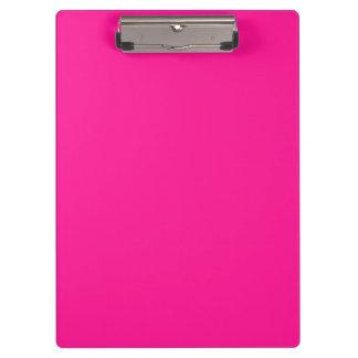 Fluorescent Pink Clipboard