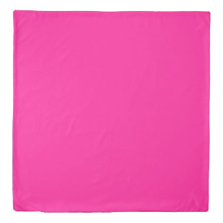 Fluorescent Pink Duvet Cover