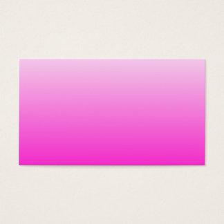 Fluorescent Pink Gradient Business Card