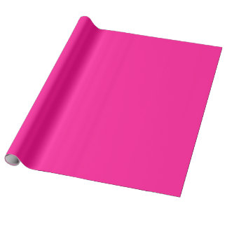 Fluorescent Pink Linen Wrapping Paper