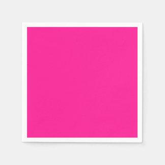 Fluorescent Pink Standard Cocktail Paper Napkin