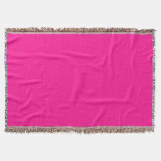Fluorescent Pink Throw Blanket