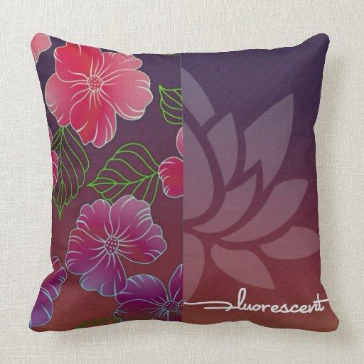 Throw Pillows 20 X 20 : Fluorescent Polyester Throw Pillow 20