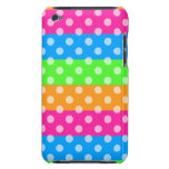 Fluorescent Rainbow with Polka Dots iPod Touch Cases