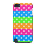 Fluorescent Rainbow with Polka Dots iPod Touch 5G Cases