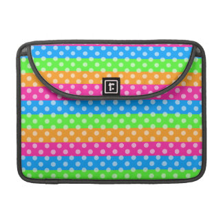 Fluorescent Rainbow with Polka Dots MacBook Pro Sleeves