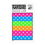 Fluorescent Rainbow with Polka Dots Stamp