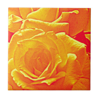 fluorescent rose orange ceramic tile