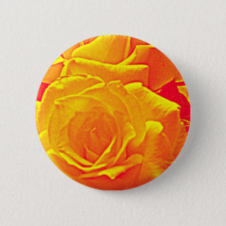 fluorescent rose orange pinback button