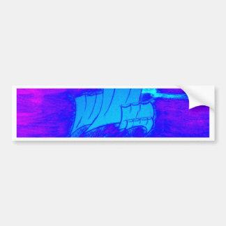 fluorescent sailboat 1 bumper sticker