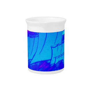 fluorescent sailboat 1 drink pitchers