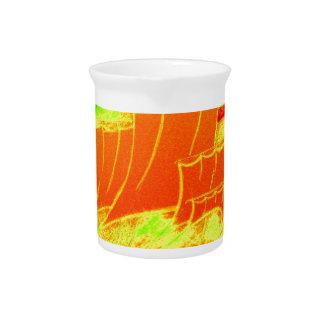 fluorescent sailboat drink pitcher