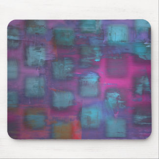 Fluorescent squares in purple and blue pattern mouse pad