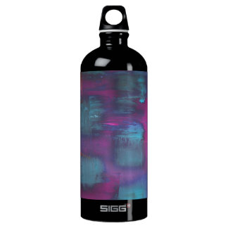 Fluorescent squares in purple and blue pattern SIGG traveler 1.0L water bottle