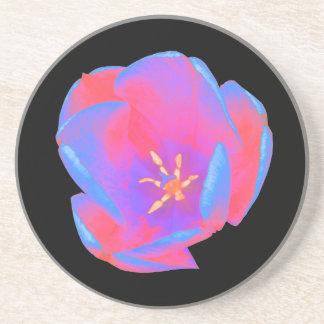 Fluorescent Tulip Coasters