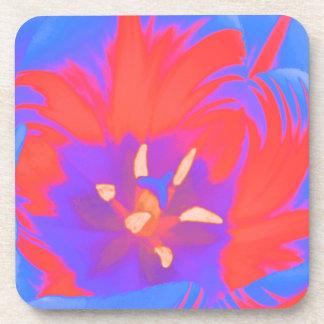 Fluorescent Tulip Cork Coaster