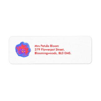 Fluorescent Tulip Custom Return Address Label