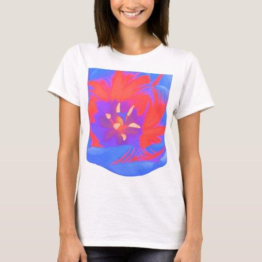 Fluorescent Tulip Ladies T Shirt