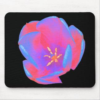 Fluorescent Tulip Mousepad