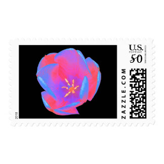 Fluorescent Tulip Postage Stamps
