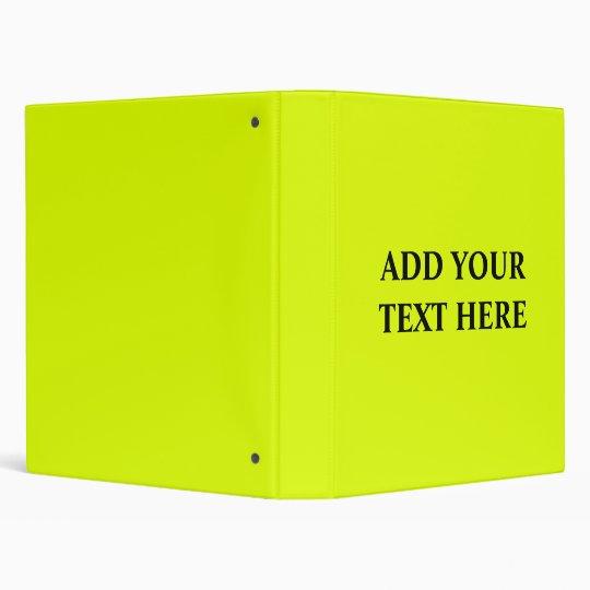 fluorescent yellow binder