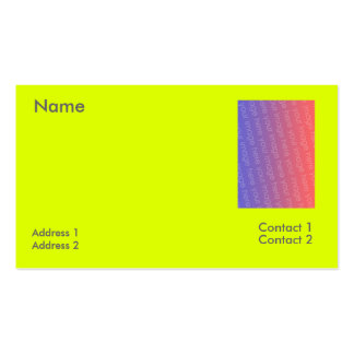 fluorescent yellow business cards